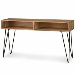 Simpli Home Hunter Solid Mango Wood Console Sofa Table, Natu