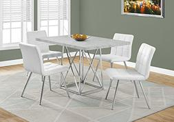 "Monarch Specialties I 1043 Dining Table-36""X 48"" / Grey Ceme"