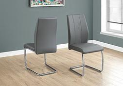 "Monarch Specialties I 1077 2 Piece Dining CHAIR-2PCS/ 39"" Le"