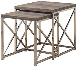 Monarch I 32 Reclaimed-Look Metal 2-Piece Nesting Table