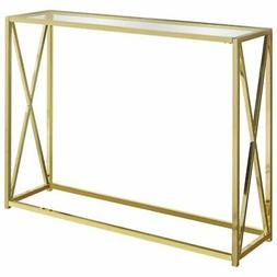Monarch Specialties I 3446 Accent, Console Table, Gold