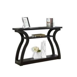 "Indigo Home Accent Table, 47"", Cappuccino Hall Console - I24"