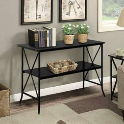 Industrial Console Table for Entryway Thick MDF Board Steel