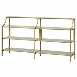 international lux glass console table