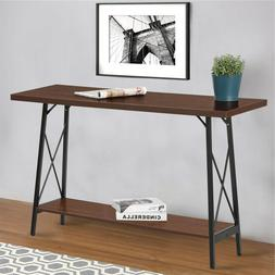 Iron Wood Console Table Rustic Accent Furniture Entryway Hal