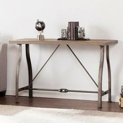 jacinto industrial console table distressed gray
