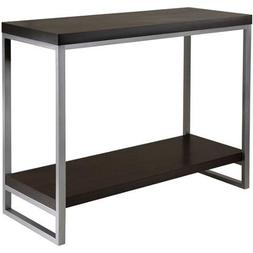 Jared Hall Console Table, Espresso Contemporary Occasional T