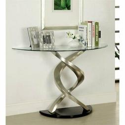 Furniture of America Kalliope Modern Sofa Table, Metallic Fi