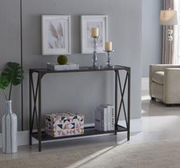 Kings Brand Furniture - Kandin Console Table with Glass Top,