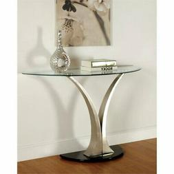 Furniture of America Kassandra Modern Sofa Table, Metallic F