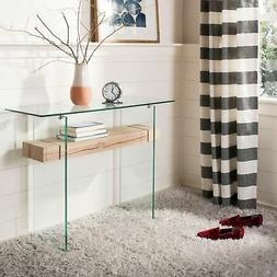 """Safavieh Kayley Natural/ Glass Console Table - 39.4"""" x 13.8"""""""