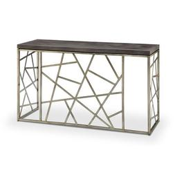 251 First Kenwood Rectangular Sofa Table in Distressed Silve