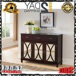 Kings Brand Rutheron Buffet Server Cabinet Console Table Mir