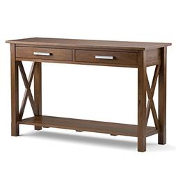 Simpli Home Kitchener Solid Wood Console Sofa Table, Medium