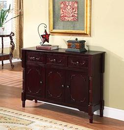 KNBF-R1021-Kings Brand R1021 Wood Console Sideboard Table wi