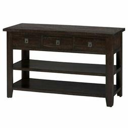 Jofran Kona Grove Console Table in Rustic Chocolate