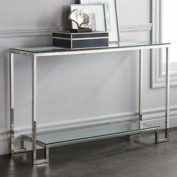 """Krista 47 1/2"""" Wide Modern Glass Console Table"""