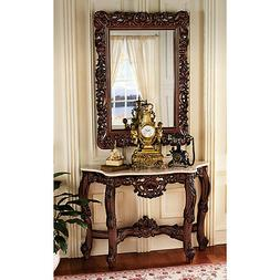 KS94119 - The Royal Baroque Mirror and Marble-Topped Console