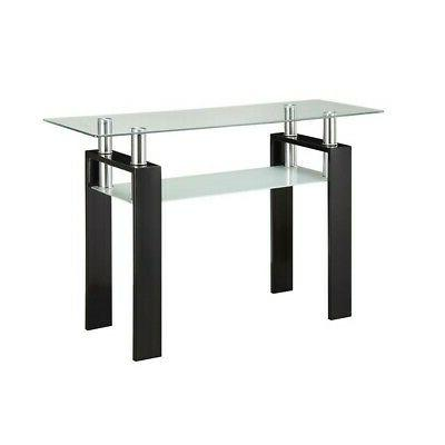 1 shelf glass console table