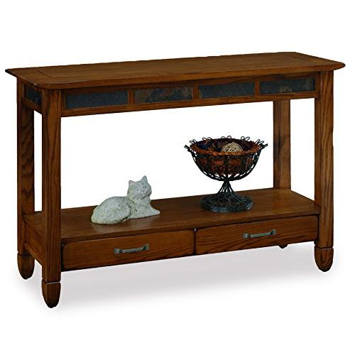 10933 slatestone oak storage console