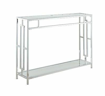 Convenience Concepts Square Clear Glass/Chrome
