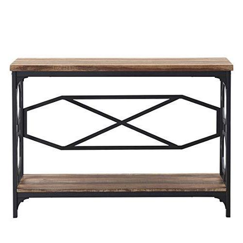 O&K Furniture Sofa Room, Entryway Table with Brown