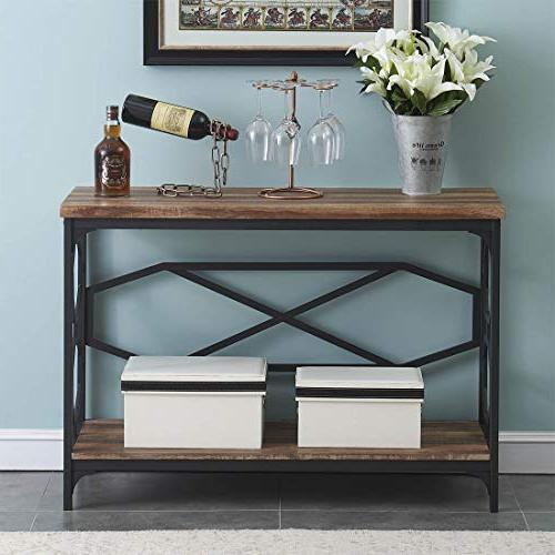 O&K Furniture Narrow Sofa Table for Room, with