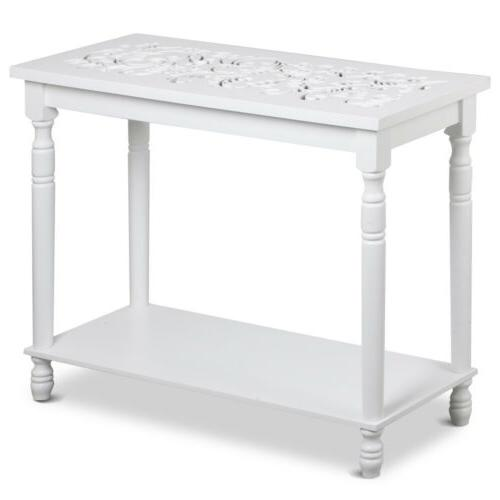2 Tier 29'' Console Table Table Side Shelf Furniture