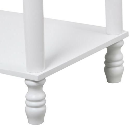 2 Tier Carved Console Table Table Side Storage Furniture