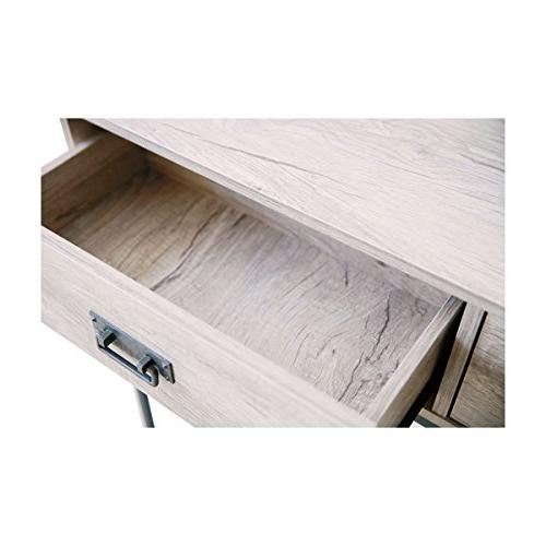 Console Table, Sofa Table for Tier Display Rectangular Table, Oak Wood