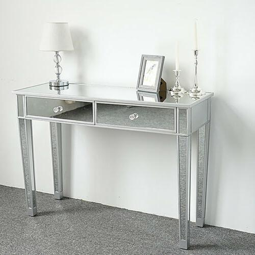 New Mirrored 2-Drawer Console Table, Mirrored Side Entryway