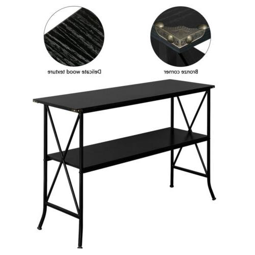 2 Console Table Storage Furniture US