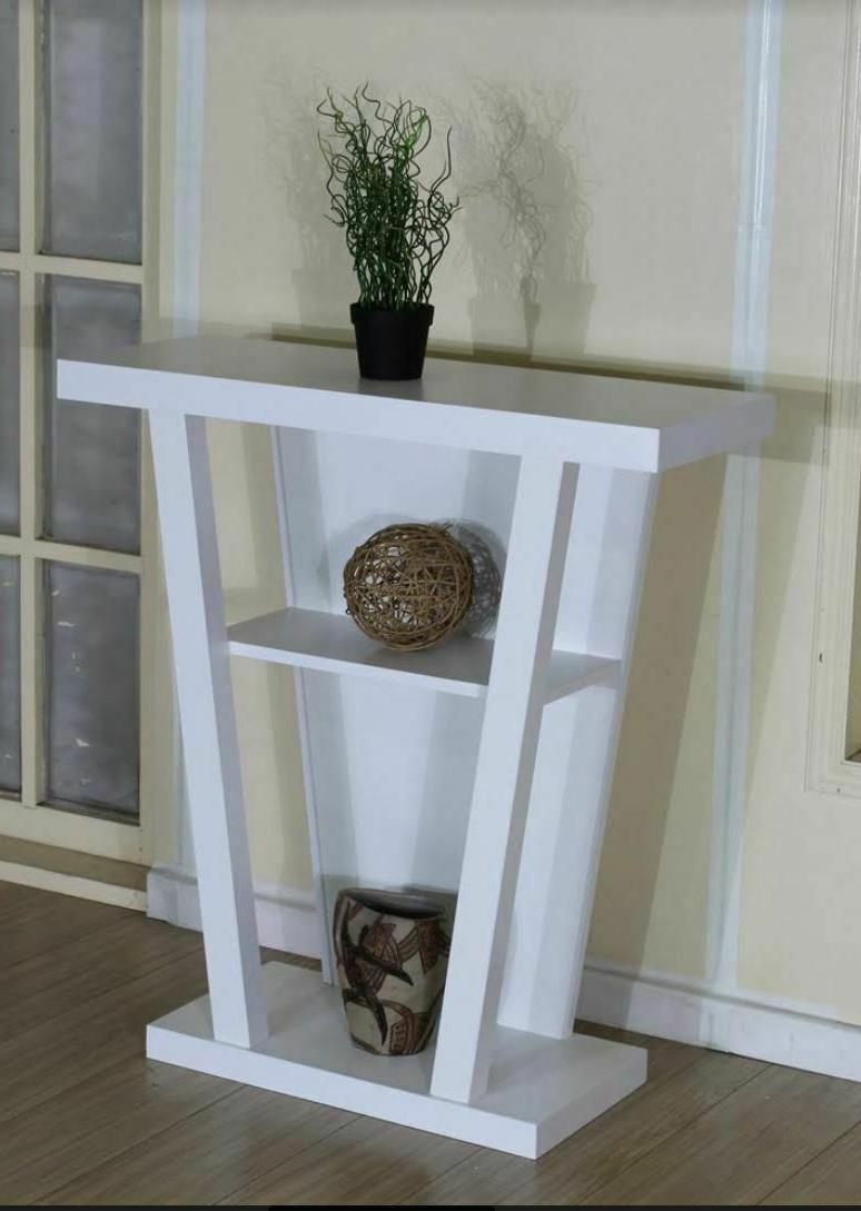 2-Shelf Console Accent Hallyway Taupe