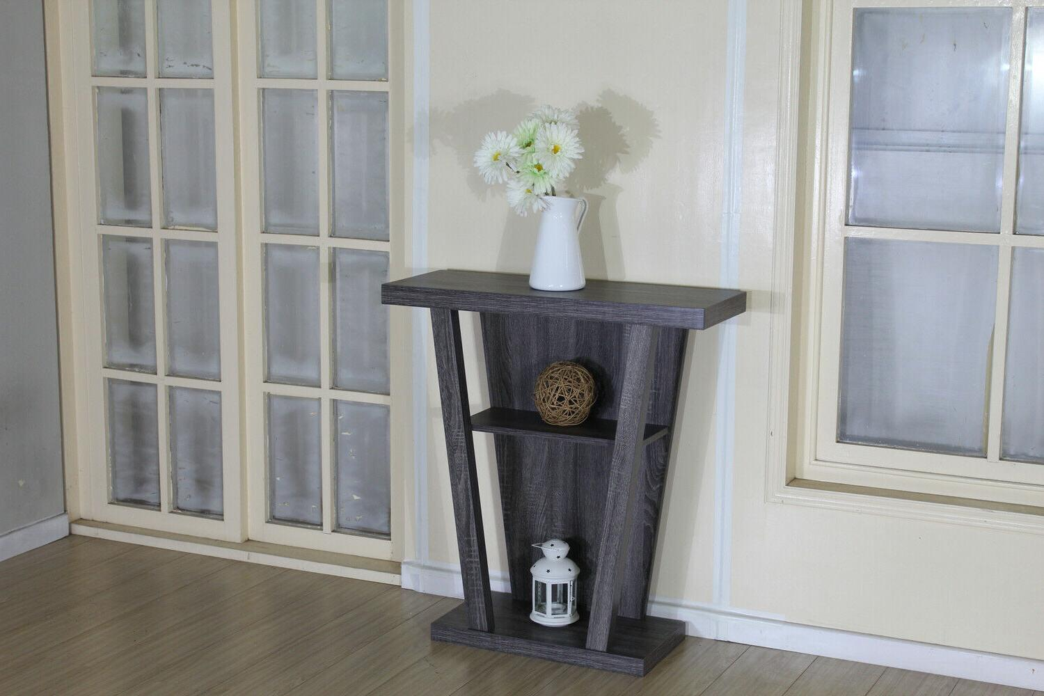 2-Shelf Hallyway Table Taupe