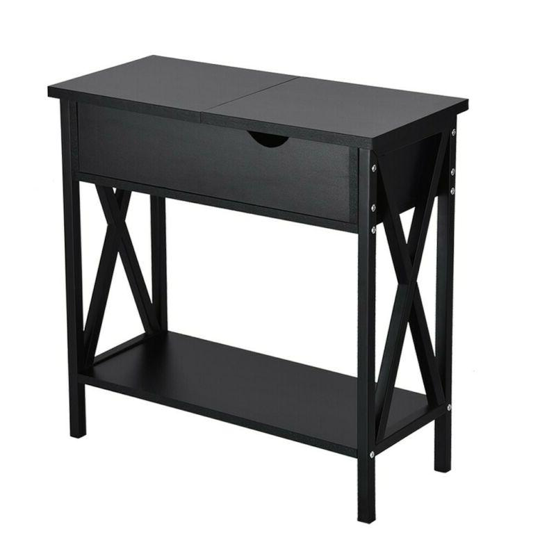 2 Console Sofa Top Table for Storage Shelf
