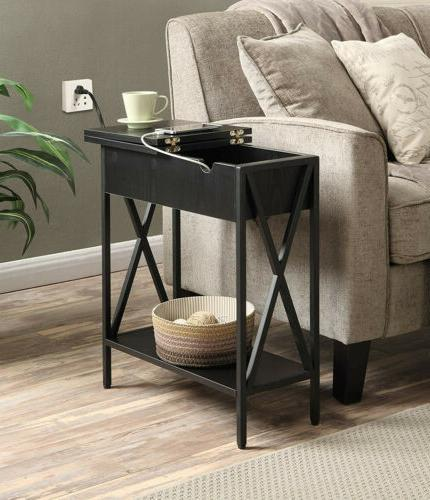 2 tier console table sofa flip top