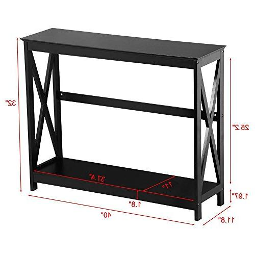 Yaheetech 2 Occasional Sofa Side Table Tables w/Storage Room Furniture