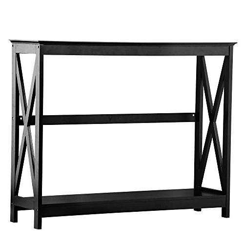 Yaheetech Tier Occasional Sofa Table Tables Shelf Room Hall Furniture
