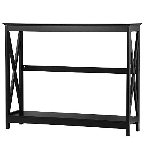 Yaheetech Tier Occasional Sofa Table Bookshelf Accent Tables Shelf Living Furniture