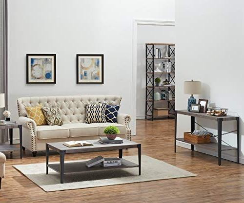 O&K 2-Tier Sofa Table, Hall Console Table with Shelf for Room and Finish