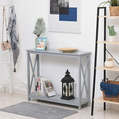 2 tier table sofa console table w