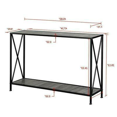 Console Modern Accent Shelf Stand Entryway