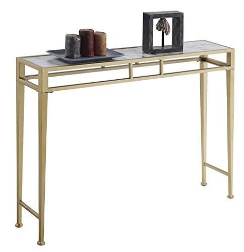 Convenience Concepts Table, White Frame
