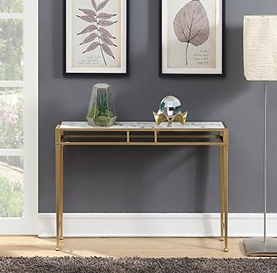 227899wmg console table white faux marble gold