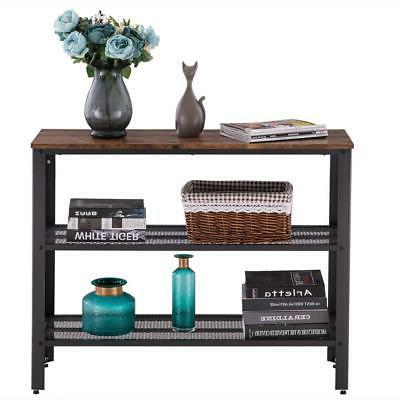 Console Hallway Industrial Side Table Coffee Rustic End Sofa