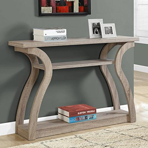3 tiered curved console table