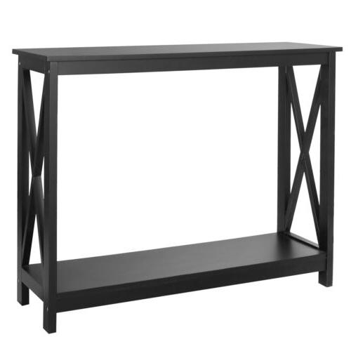 Console Table Accent Side Stand Beside Wall Display Entryway