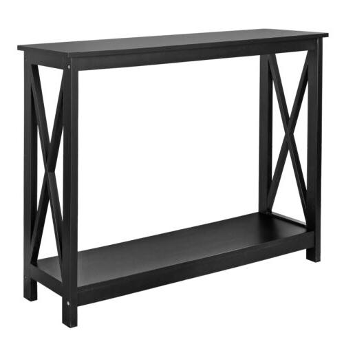 Console Table Stand Storage Shelf