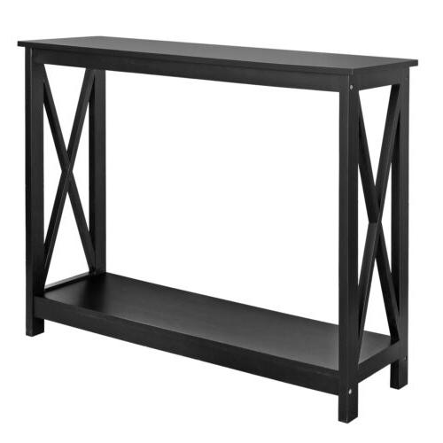 Console Table For Entryway Storage Shelf Entry Modern Farm A