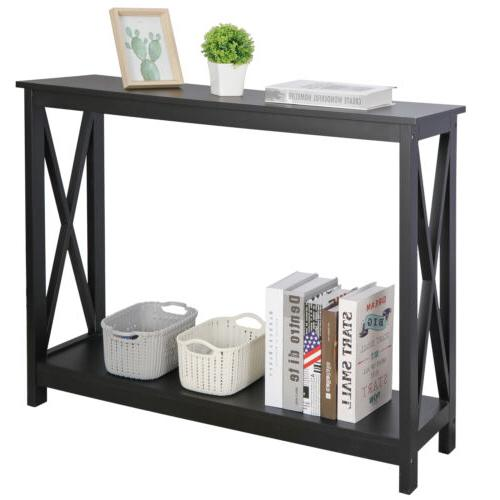 Console Shelf Entryway Living